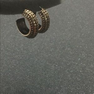 New Chico's Antique Gold Hoop Earrings